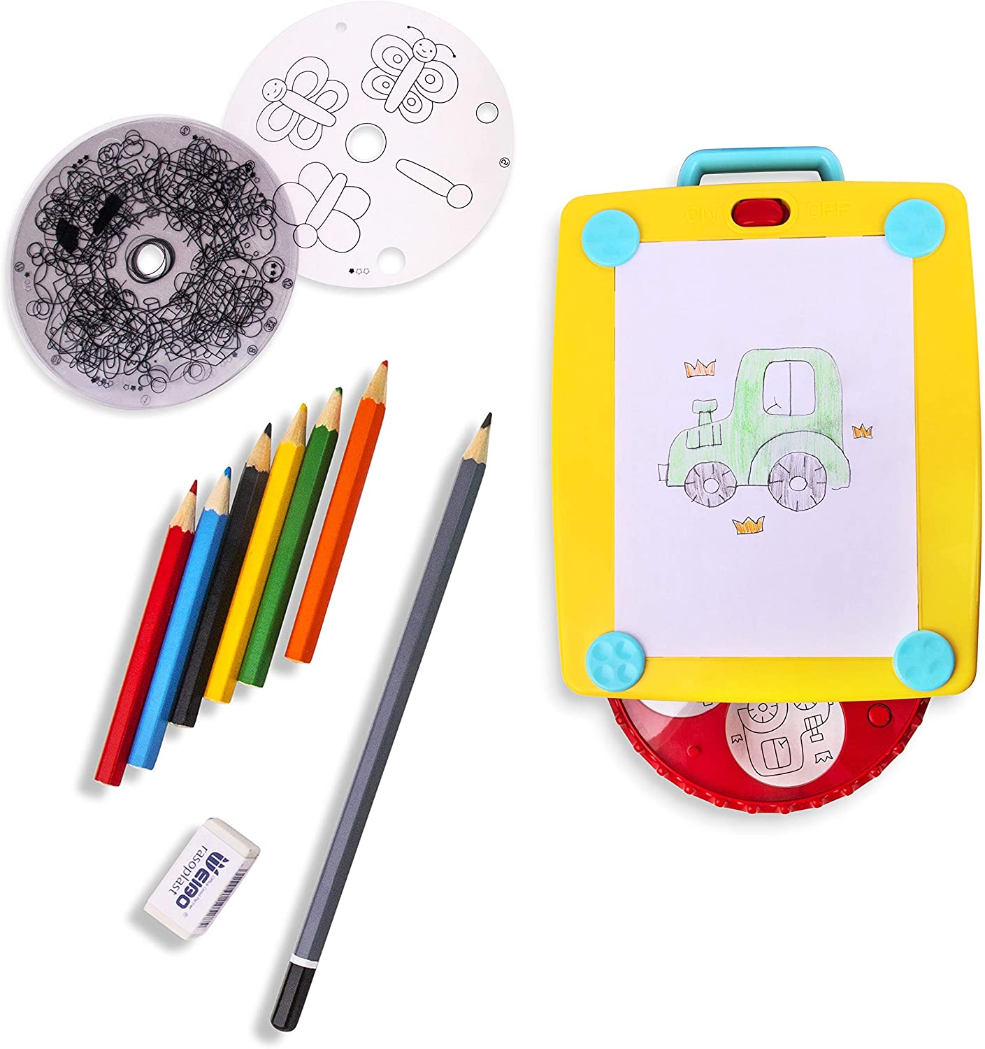 Coloring Pad for Kids of All Ages Playkidiz Colorate Light Up Tracing Tablet