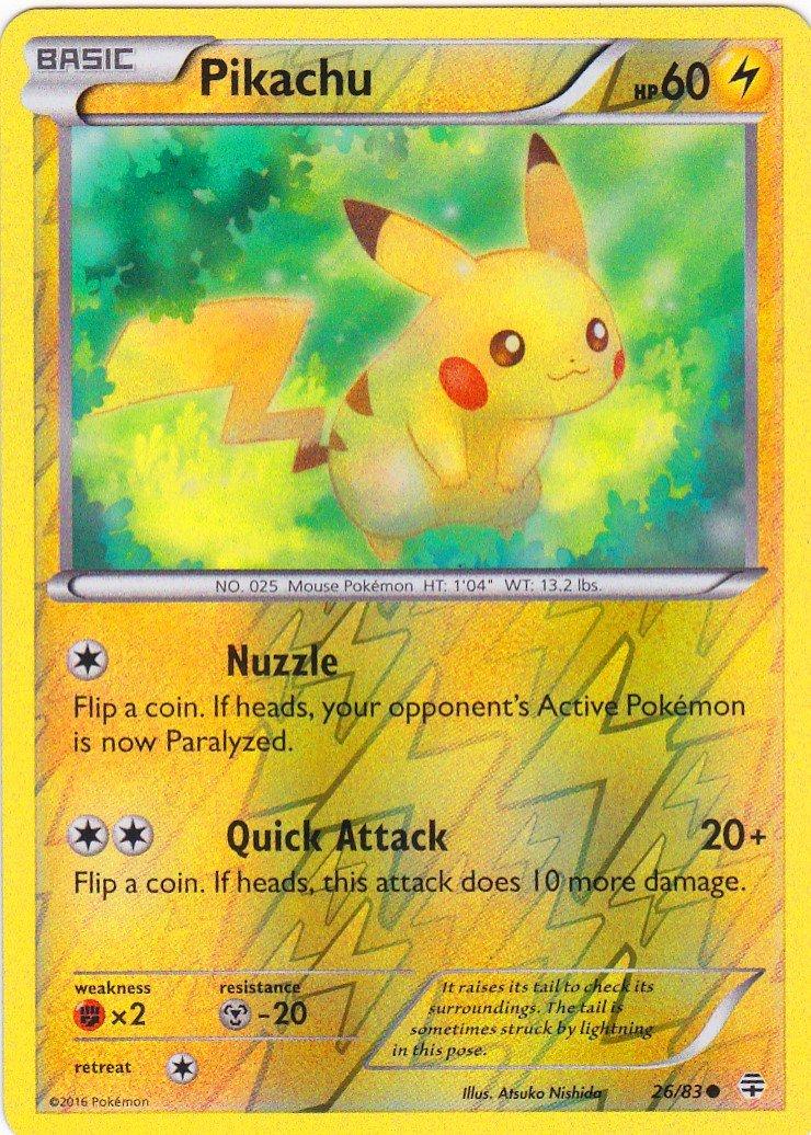 Pokà & # x192; âmon única tarjeta - Generaciones de Pikachu ...