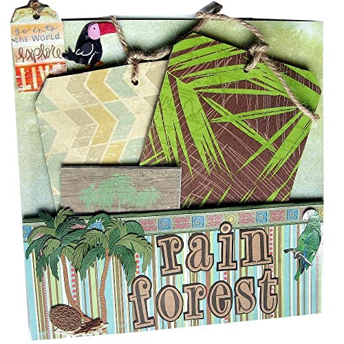 Amazon Rain Forest Scrapbook Page Stand Up Photo Frame