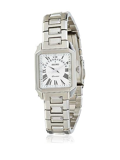 Seiko SXD789P1 - Reloj analógico de mujer de cuarzo con correa de acero inoxidable plateada -