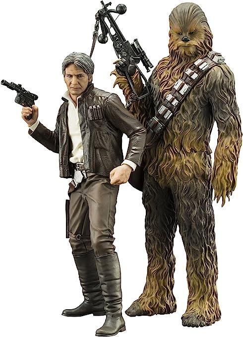 Han Solo And Chewbacca Statue Kotobukiya Artfx Star Wars