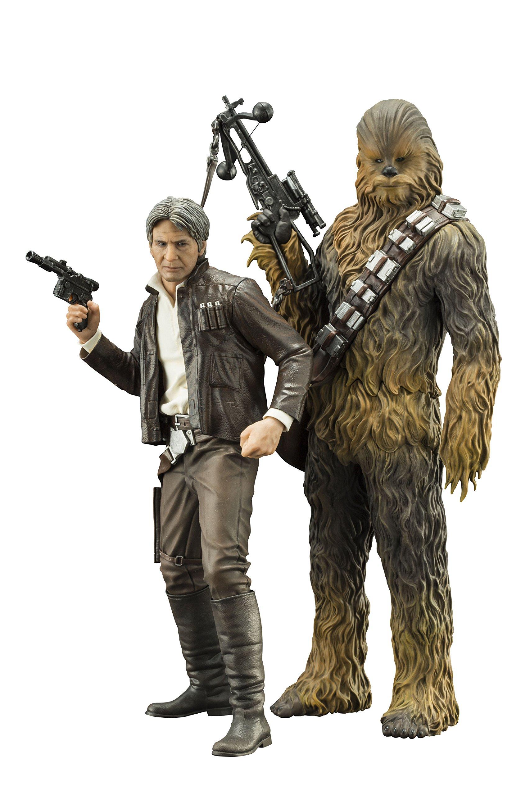 Kotobukiya Star Wars: The Force Awakens: Han Solo & Chewbacca ArtFX+ Statue (2 Pack)