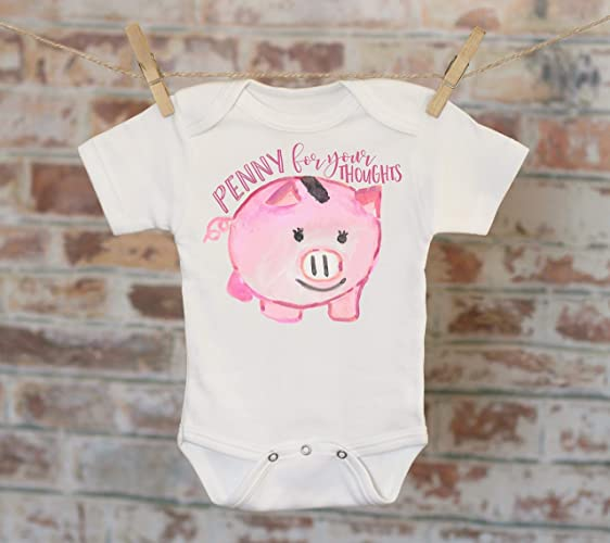 508443c1ce1c3 Amazon.com: Penny For Your Thoughts Pig Onesie®, Piggy Bank Onesie ...