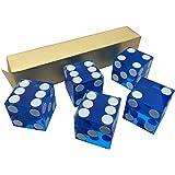 5x Bleu New Parfait 19mm Précision Casino dés/au superbe