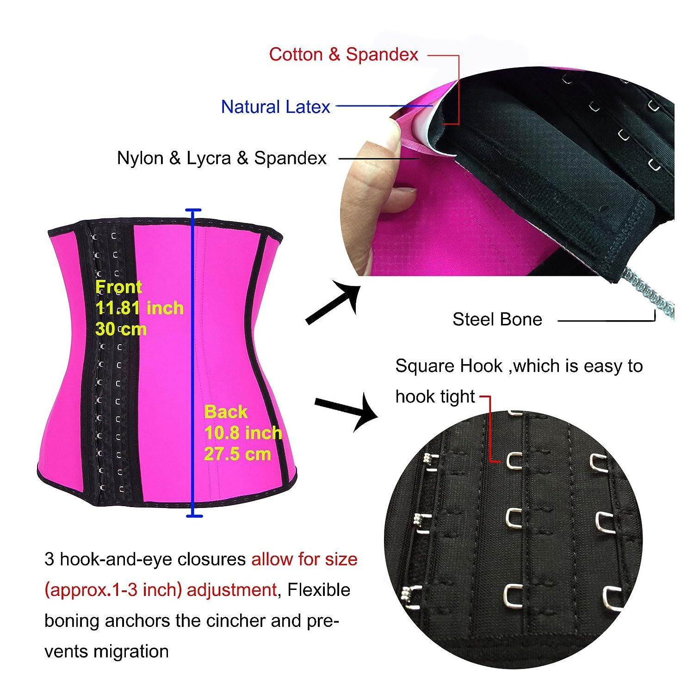 52d2183ddb FIRM ABS Women s Latex Sport Girdle Waist Training Corset Waist Body Shaper  NewS024 larger image