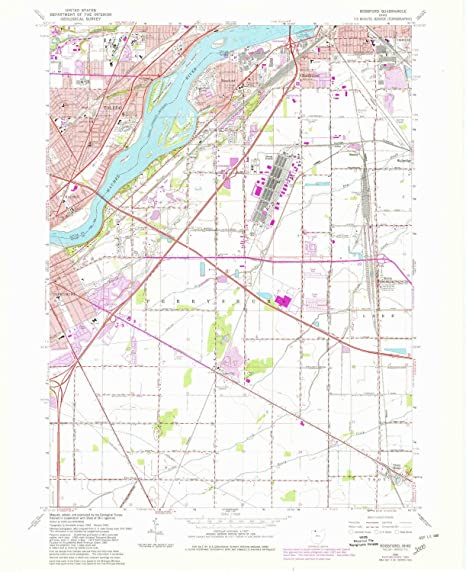 Rossford Ohio Map.Amazon Com Yellowmaps Rossford Oh Topo Map 1 24000 Scale 7 5 X