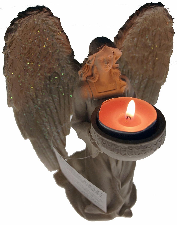 Kneeling 18 cm Holy Angel Figurine Tea light Candle Holder Ornament PT