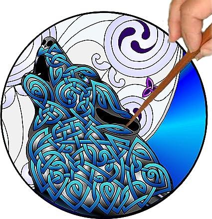 amazon com mandalynths celtic wolf mindfulness art for stress