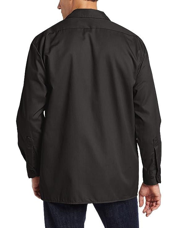 Dickies Men's Long-Sleeve Work Shirt at Amazon Men's Clothing ...