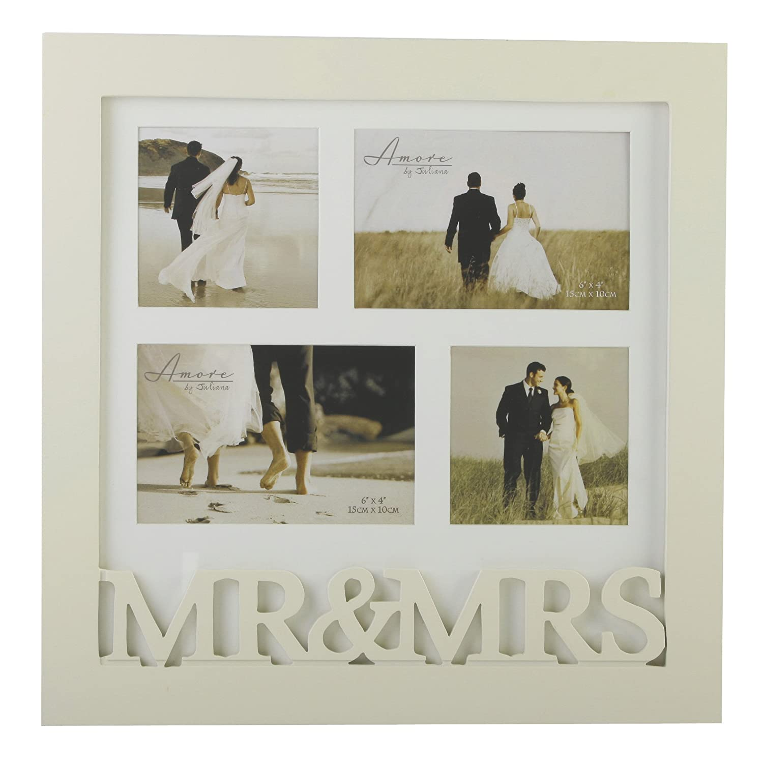 mr mrs wooden collage wedding photo frame gift by widdop bingham - Mr And Mrs Frame