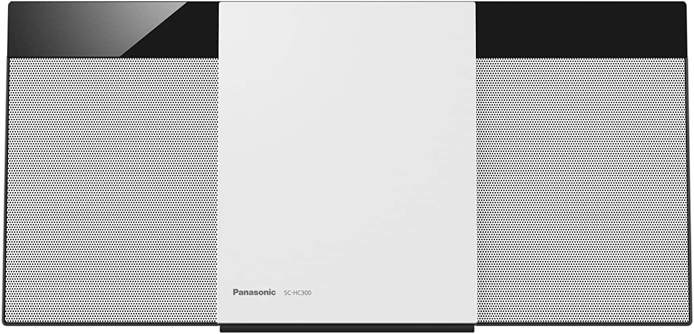 Panasonic SC-HC300EG-W - Microcadena (Home Audio Micro System, 1 Discos, 20 W, de 1 Vía, Radio FM, Bluetooth, Diseño Elegante y Fino, Sistema Hi Fi, Sonido Nítido y Puro) Color Blanco