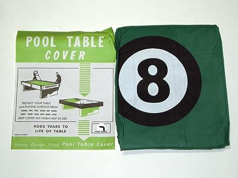 sgl funda para mesa de billar de 2,1 m con diseño de bola nº 8
