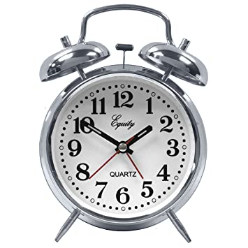 Amazon.com: Equity by La Crosse Analog Twin Bell Alarm Clock: Home ...