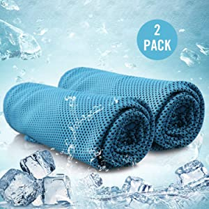 BALEAF Cooling Towel - Indoor Outdoor Yoga Gym Workout Sports Cooling Sweat Towel - Microfiber Travel Chilly Towel - Fast Drying & Lightweight & UPF 50+ Cooling Neck Wrap