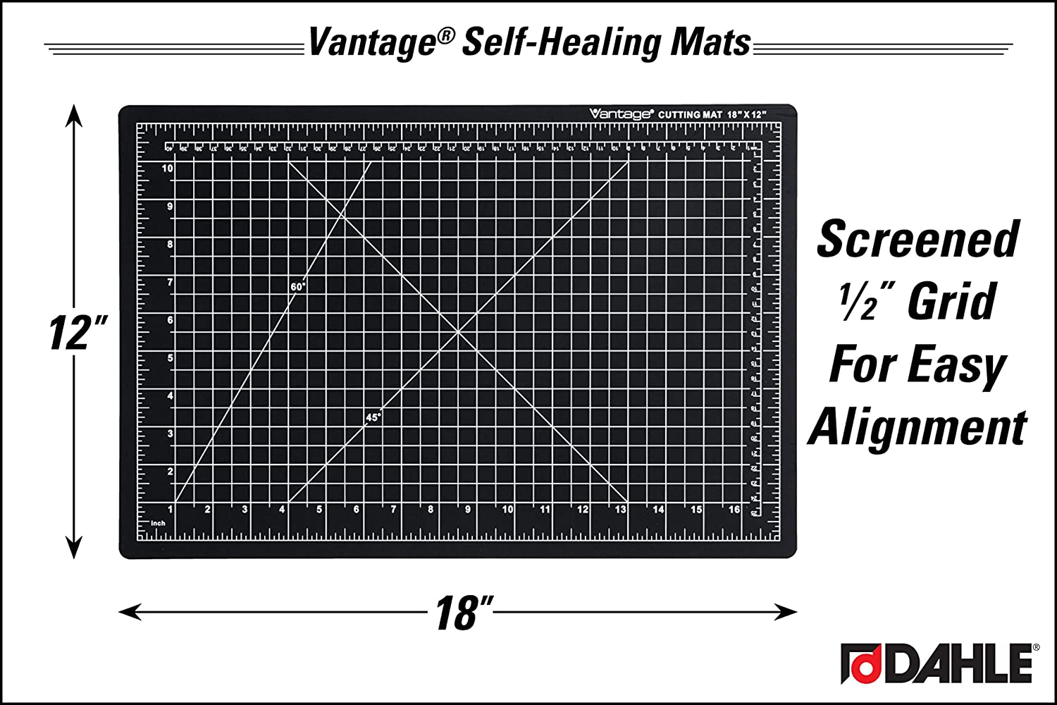 Dahle Vantage 10690 Self-Healing 5-Layer Cutting Mat Perfect for Crafts and Sewing 9 x 12 Blue Mat