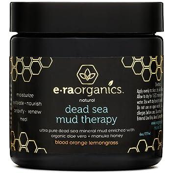 Era Organics Máscara de barro de mar muerto con aloe vera orgánico, manteca de karité