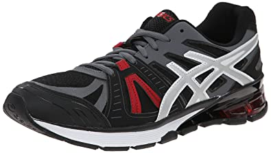 ASICS Men's Gel-Defiant 2 Training Shoe, Onyx/Silver/Red, 8