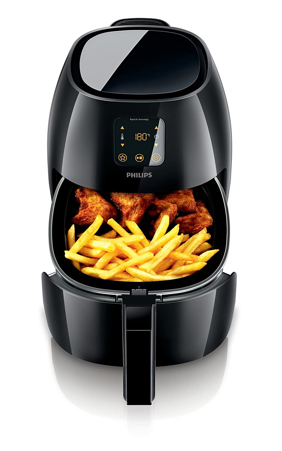 Philips XL Airfryer, The Original Airfryer, Fry Healthy with 75% Less Fat, Black, HD9240/94