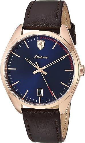 Scuderia Ferrari Unisex Analogue Quartz Watch With Leather Strap 830500 Amazon De Uhren