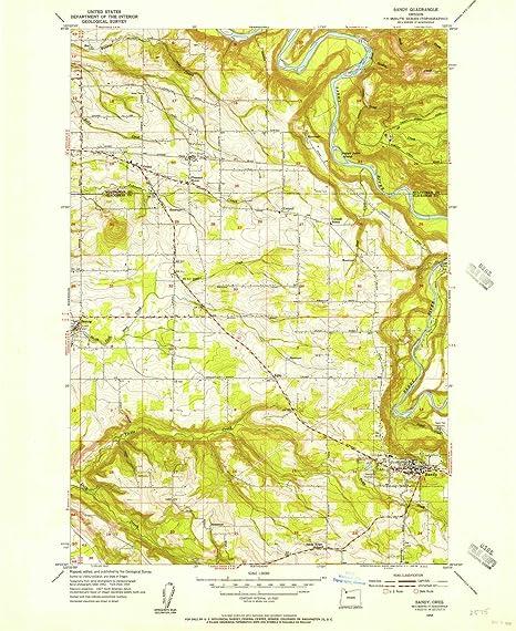Amazon Com Yellowmaps Sandy Or Topo Map 1 24000 Scale
