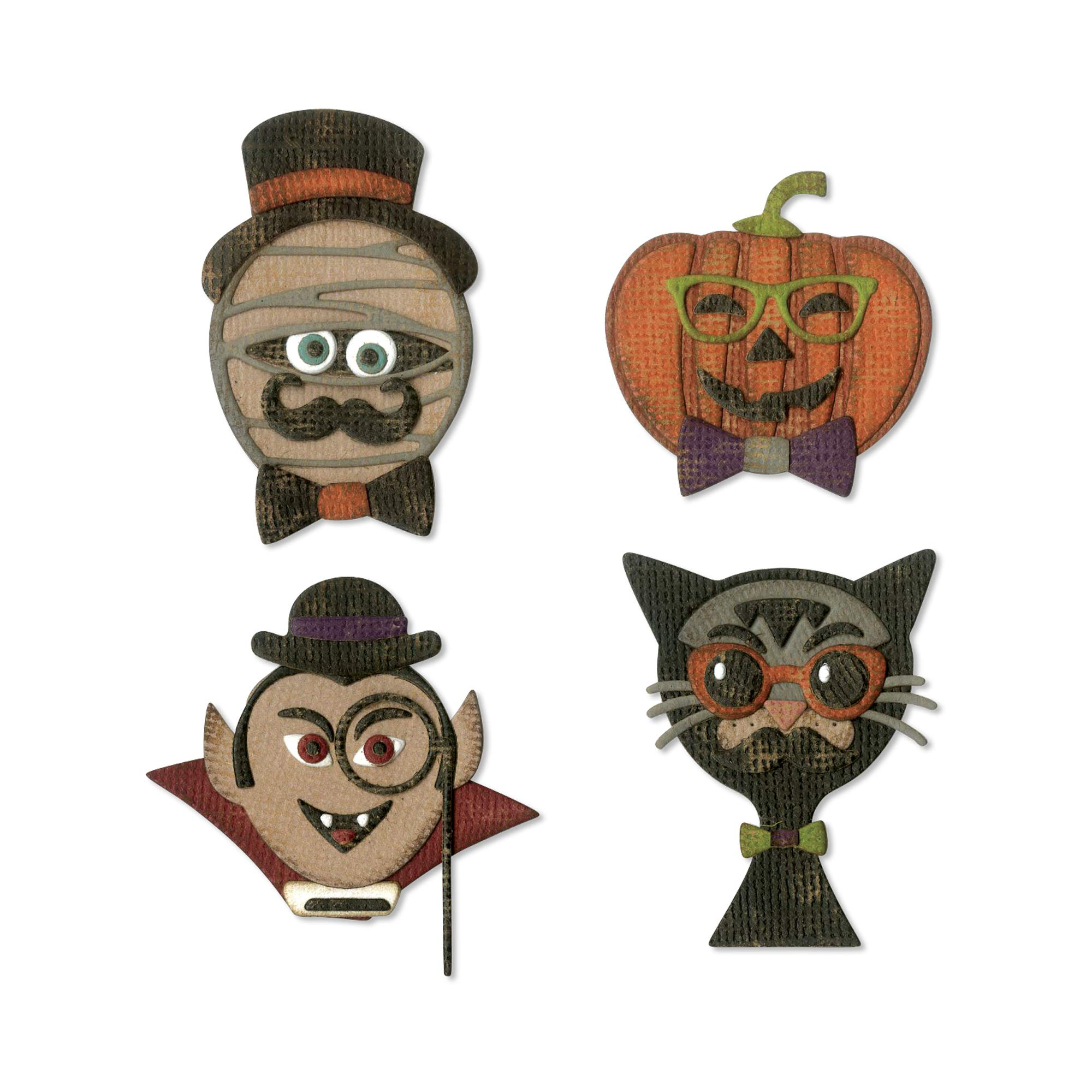 Sizzix 664206 Hip Haunts by Tim Holtz Dies, us:one Size, Multicolor