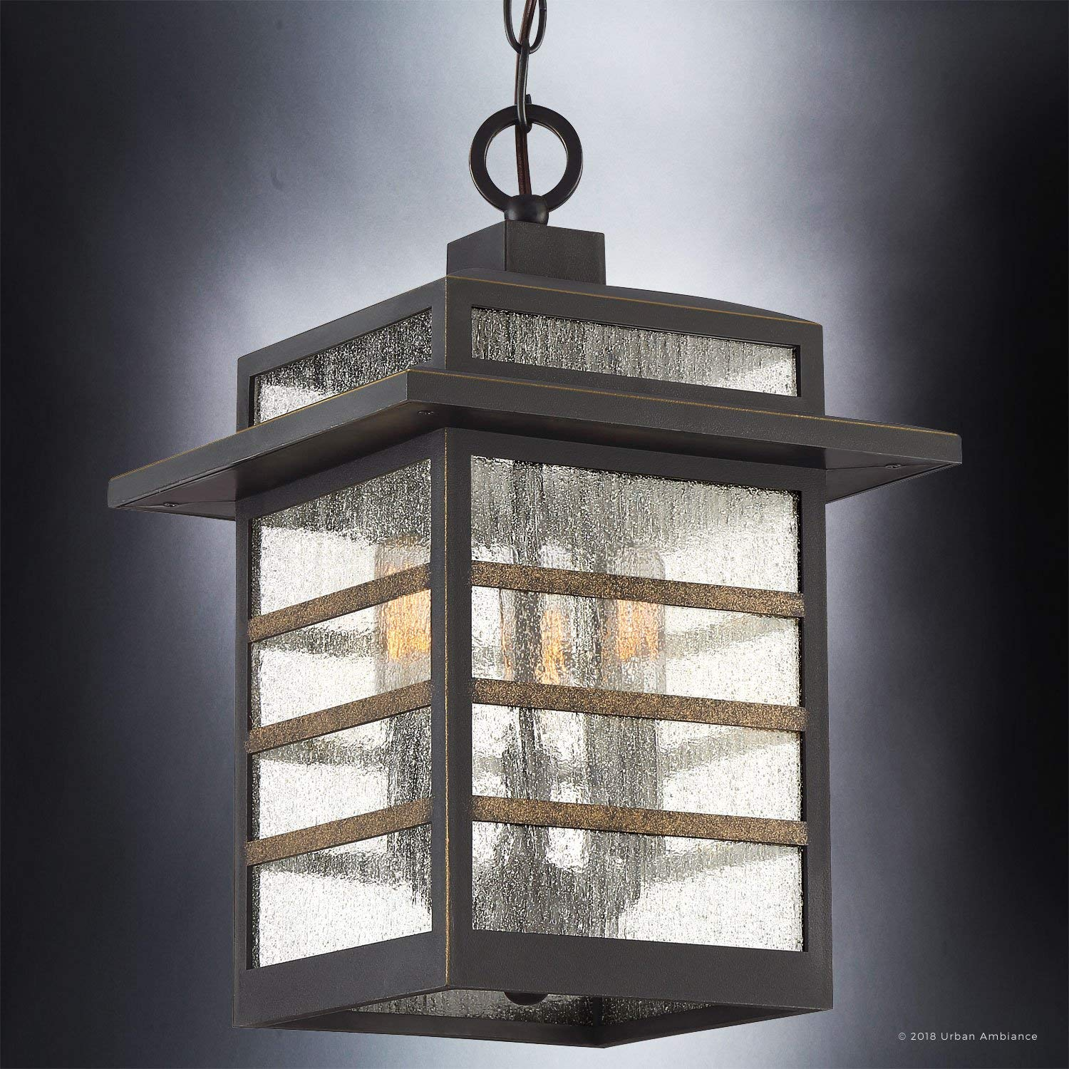 Amazon.com: Luxury Craftsman Outdoor Pendant Light, Medium ...