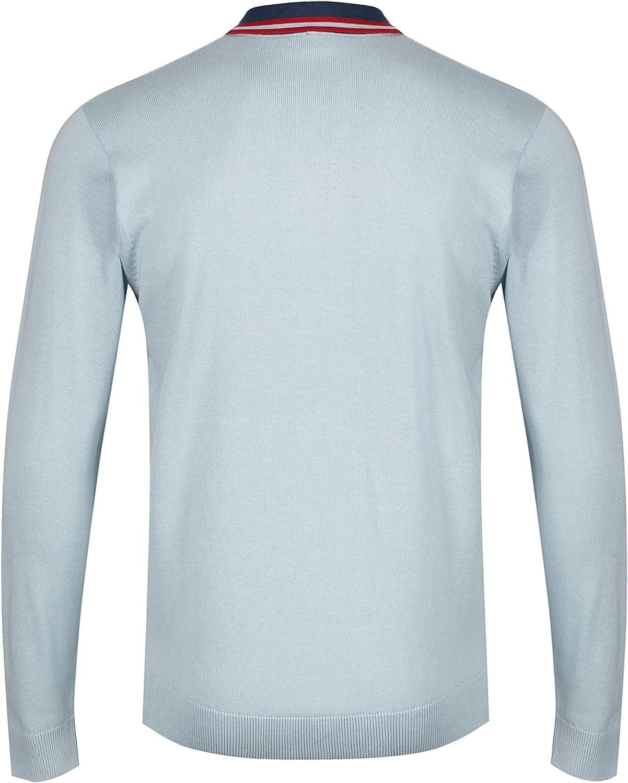 Gabicci Bretton Long Sleeve Polo Shirt | Shade Blue