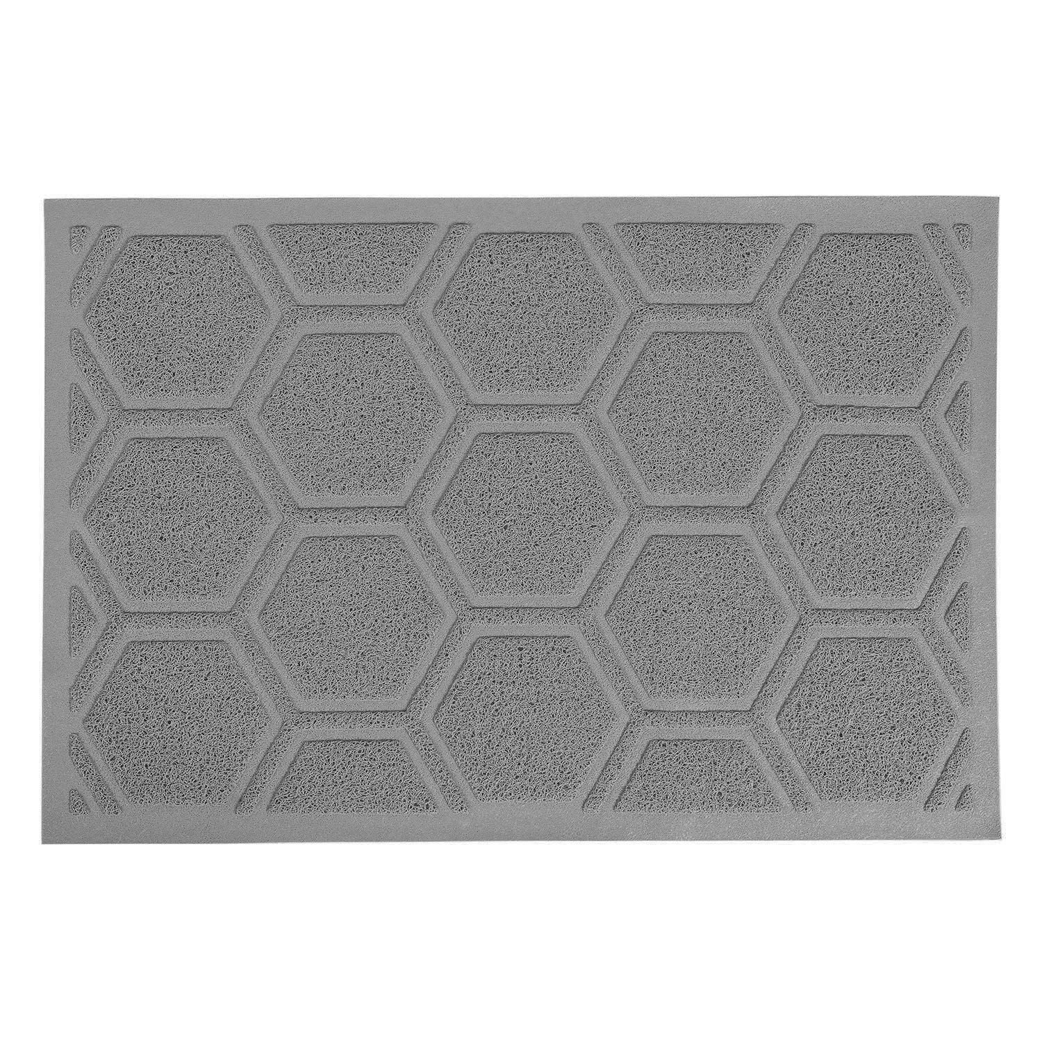 SACRONS Cat Litter Mat Extra Large 35 25 Soft on Paws Waterproof Easy to Clean BPA Free Gray Purple
