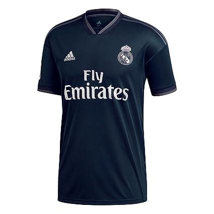 6b66e1f4f Amazon.com   adidas 2018-2019 Real Madrid Away Football Soccer T-Shirt  Jersey (Kids)   Sports   Outdoors