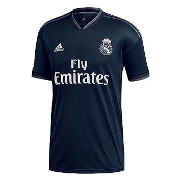Adidas Real Madrid 2018/2019 Camiseta 2ª Equipación, Niños, Negro, 152: Amazon.es: Deportes y aire libre