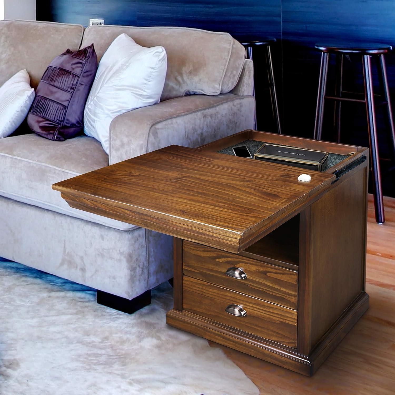 Amazon.com: Casual Home Lincoln Nightstand Compartment, Concealment  Furniture, Mocha: Furniture & Decor