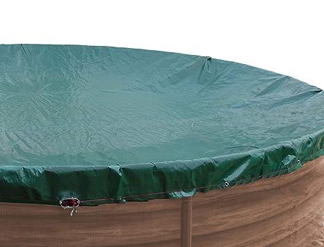 QUICK STAR Cubierta de piscina de invierno oval 180g / m² para ...