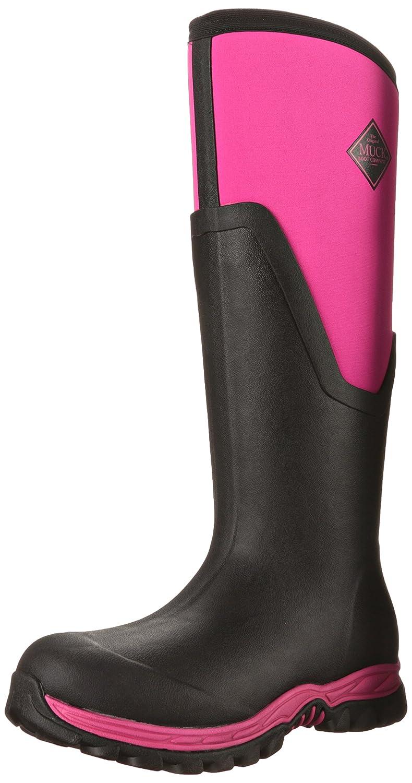 Muck Boot Women's Arctic Sport Ii Tall Snow Boot B00TT38Y1G 7 B(M) US|Black/Pink