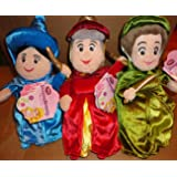 Disney Sleeping Beauty Fairies Set of 3 Mini Plush Merryweather, Fauna, Flora