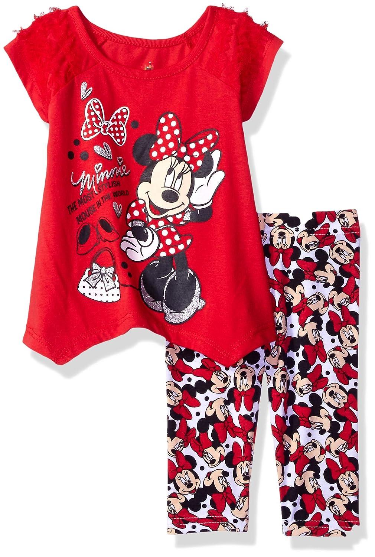Disney Girls' 2-Piece Minnie Mouse Legging Set 6pr2549-P