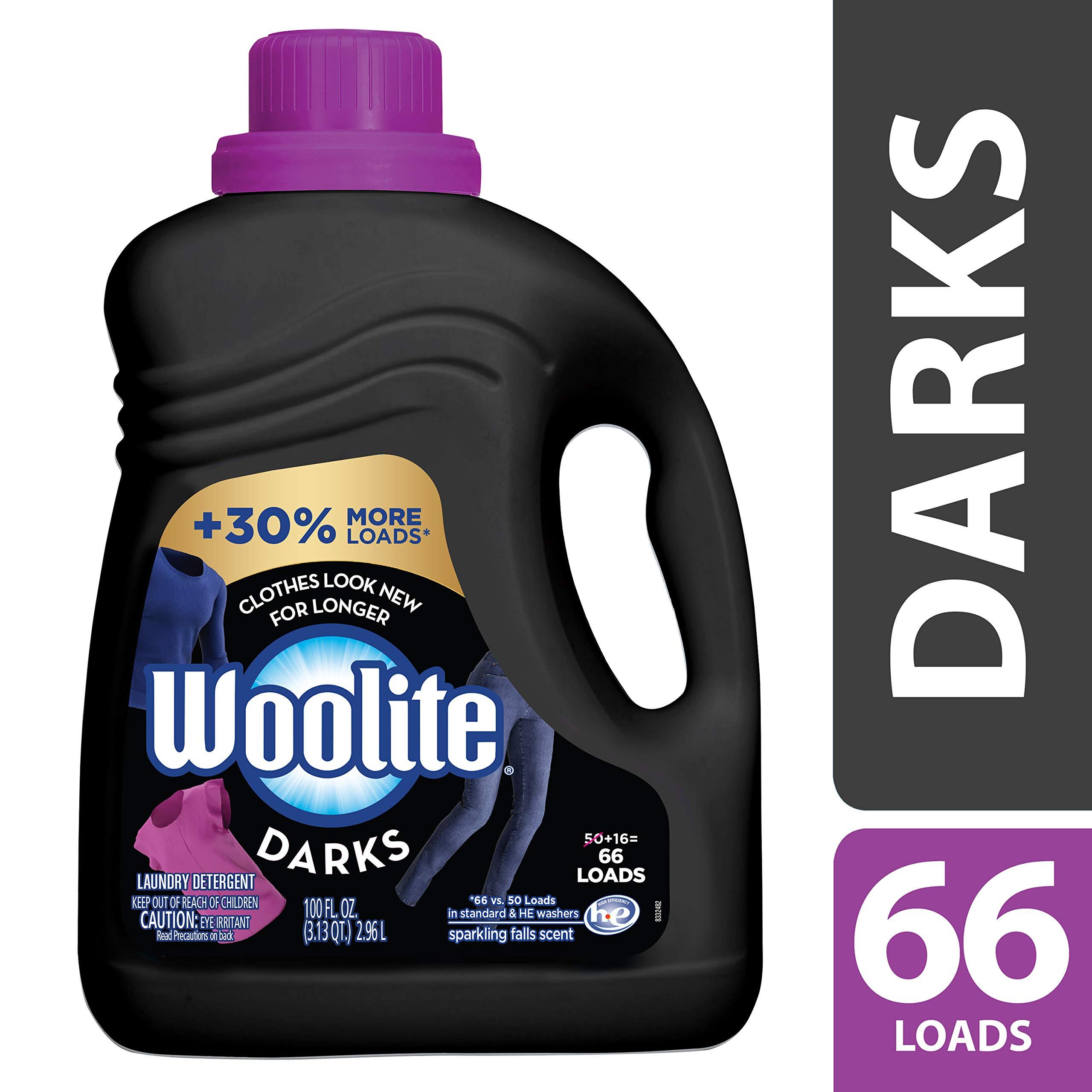 Woolite DARKS Liquid Laundry Detergent, 66 Loads, Regular & HE Washers, Dark & Black Clothes & Jeans