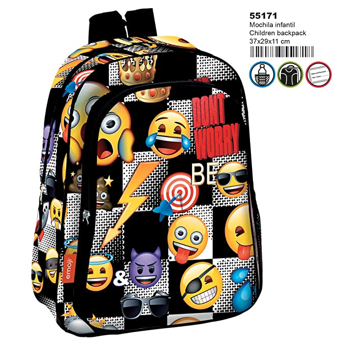 comprar lo mejor oficial 100% de garantía de satisfacción Emoji Mochila, 37 x 29 X11 Bolsa de deporte infantil Mochila emotix Icon (25