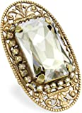 "Liz Palacios ""Piedras"" Swarovski Elements Crystal Bar Ring"