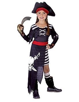 Disfraz de jefa de los piratas para niña 10 - 12 ans (L): Amazon ...