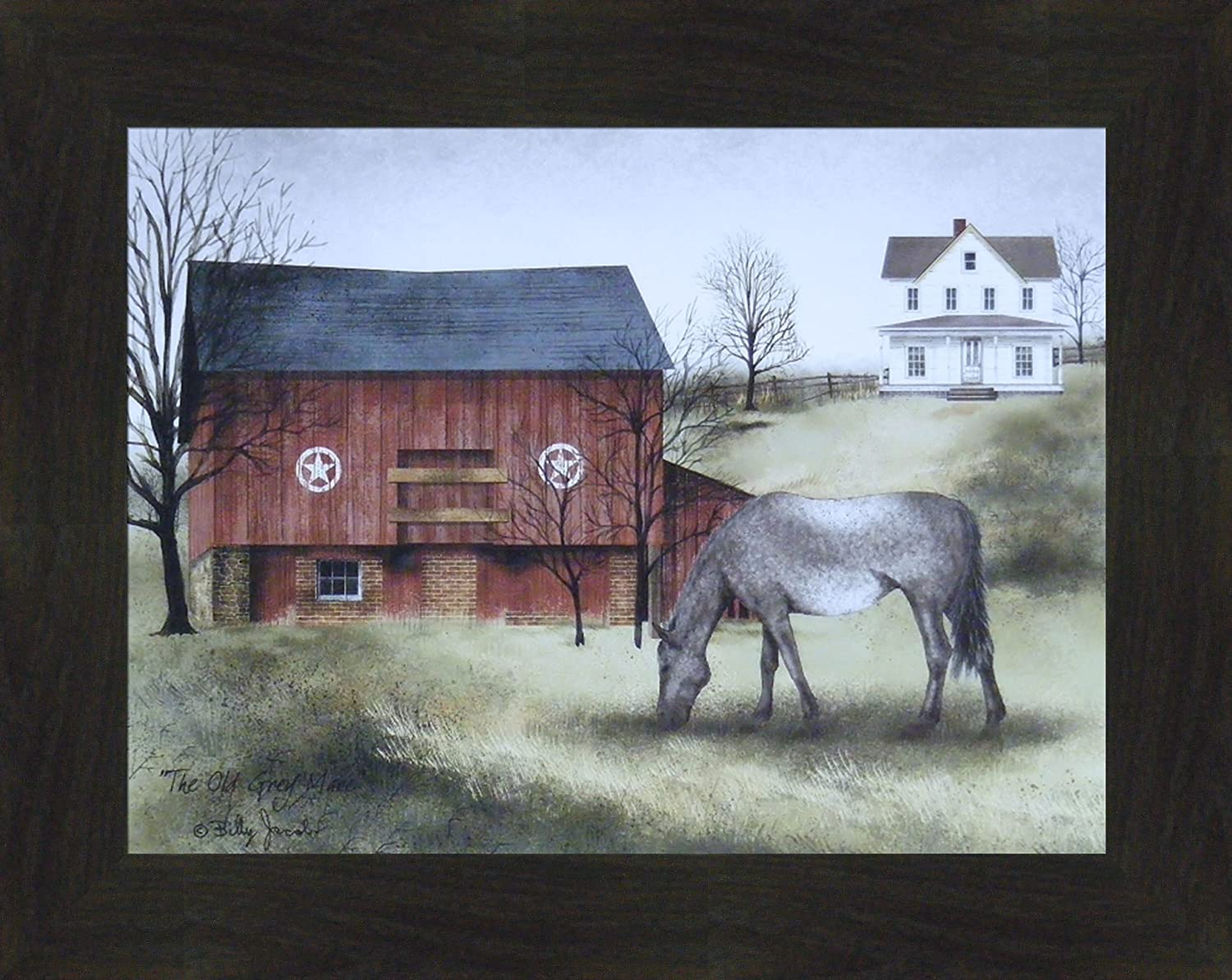 Farmhouse Country Vinyl Design Wall Sticker PRIMITIVE BLESSINGS Crow Rustic 5x9