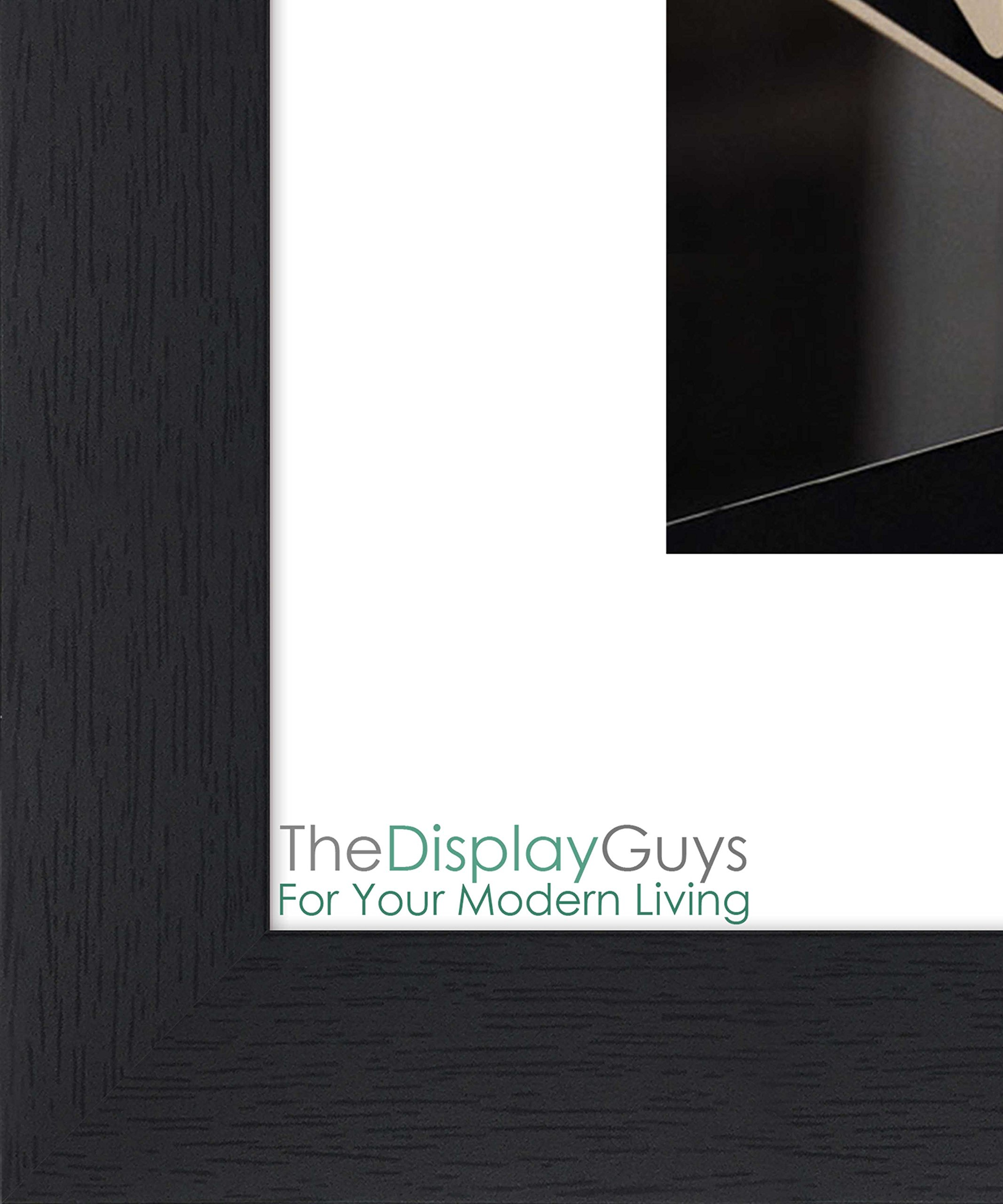 """The Display Guys 4-Openings 4x6 Wooden Collage Picture Frame w. Tempered Glass & Off-White/Ivory Mat (Black) 1"""" Border with Woodgrain Texture -  - picture-frames, bedroom-decor, bedroom - 811YaUeGxcL -"""