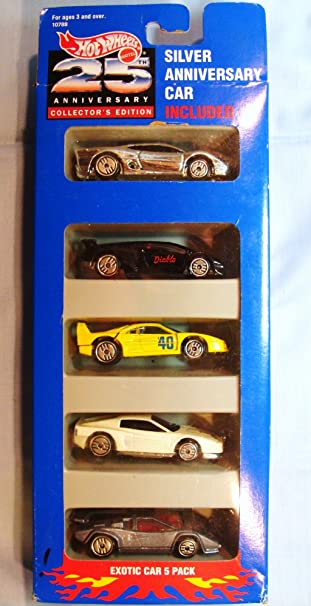 Hot Wheels 25th Anniversary Exotic Car Gift Pack Toys