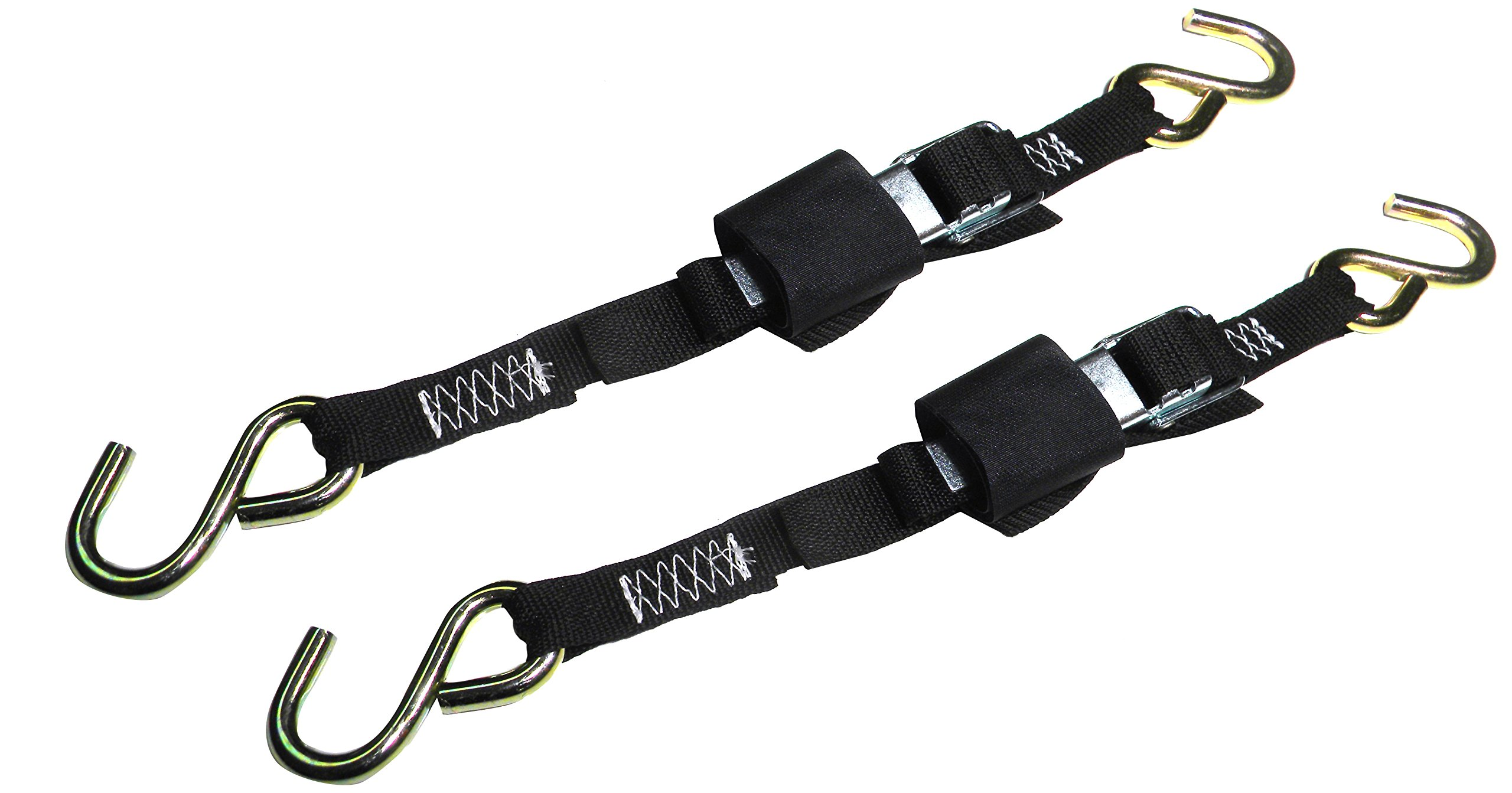 Rod Saver Paddle Buckle 1-inch Trailer Tie-Downs (2-Feet), Pair
