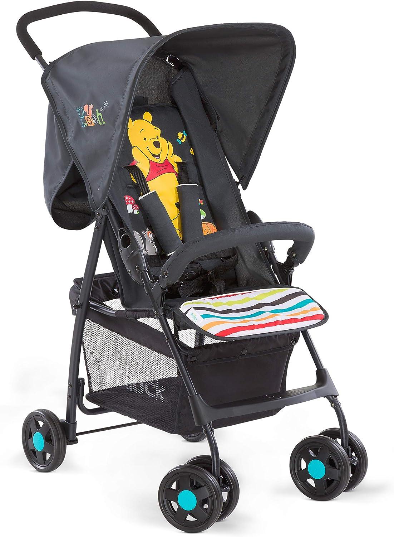 Hauck Sport Silla de paseo ligera y practica para bebes de 0 meses hasta 15 kg, sistema de arnés de 5 puntos, respaldo reclinable, plegable, Negro (Black)