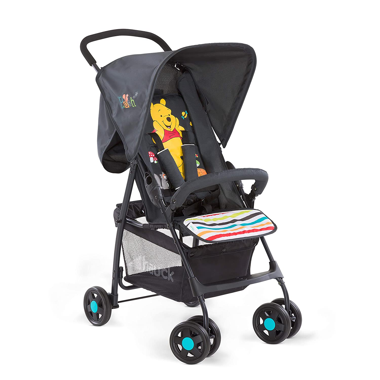 plegable Hauck Sport Silla de paseo ligera y practica para bebes de 0 meses hasta 15 kg Black Negro sistema de arn/és de 5 puntos respaldo reclinable
