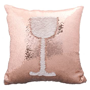 idea up reversible sequins mermaid pillow cases 4040cm with magic mermaid sequin rose gold and