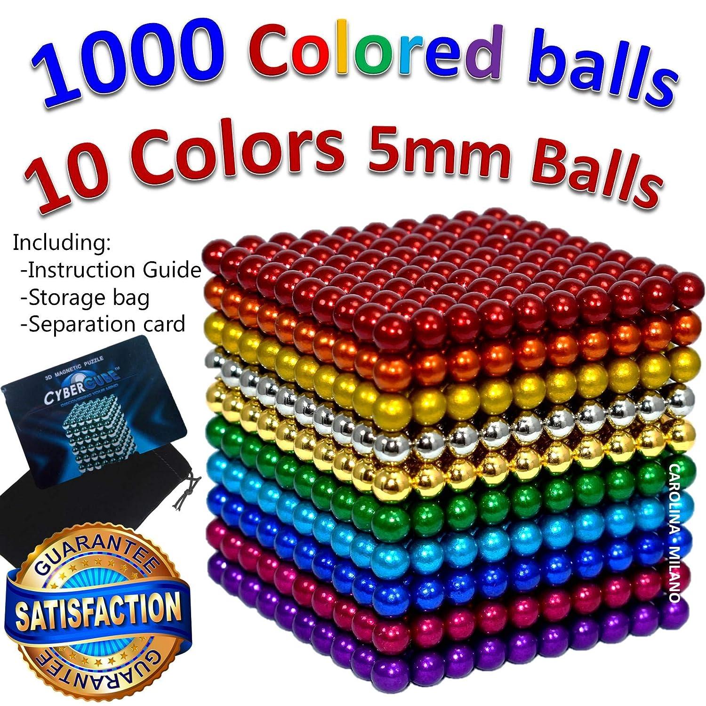 1000 pcs 5mm 10 Colors Multicolored Large Balls Toy Building Blocks