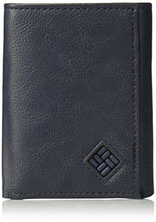 5e0a954206ef Columbia Men s RFID Leather Wallet - Big Skinny Trifold Vertical Security  Protection Credit Card Slots and