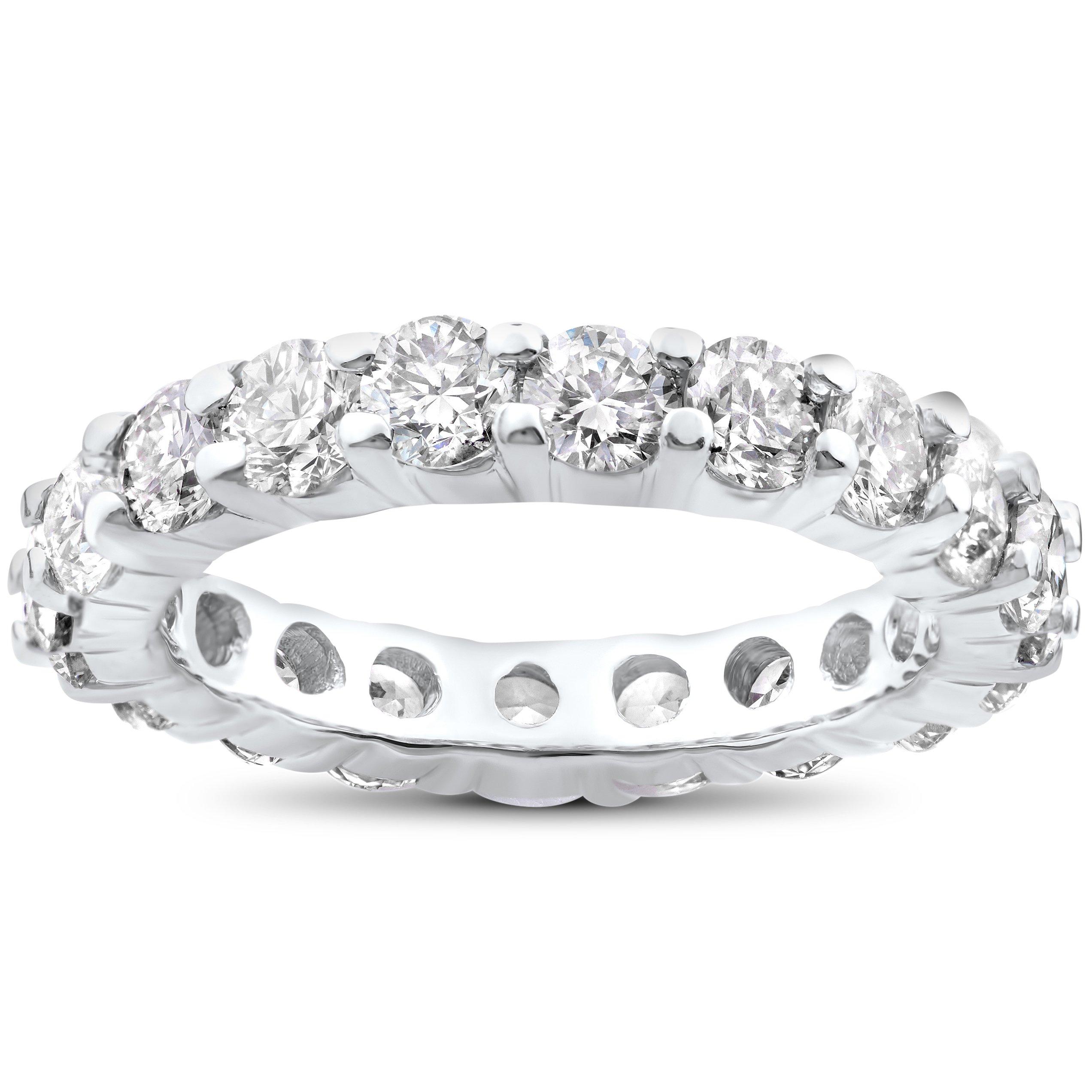 4 ct Diamond Eternity Wedding Ring 14K White Gold