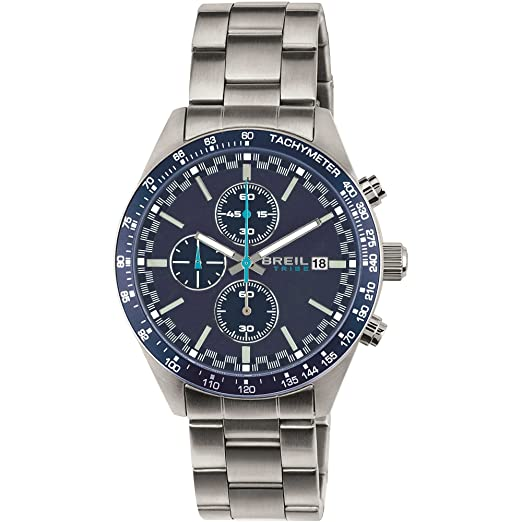 TRIBE Reloj BY BREIL FAST Hombre Acero inoxidable Cronógrafo Azul - EW0323: Amazon.es: Relojes